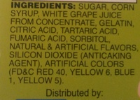 Sour Fruit Gummies - Ingredients - en