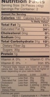 Color bombe - Nutrition facts