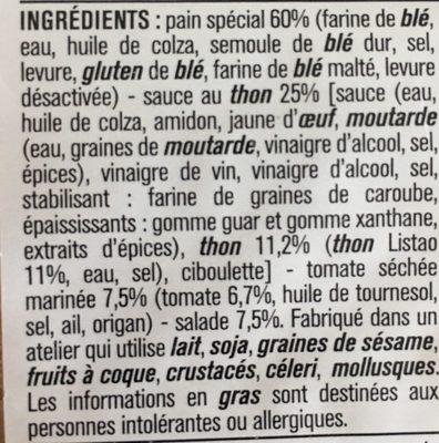Le Pavé Thon tomates marinés salade - Ingrédients - fr
