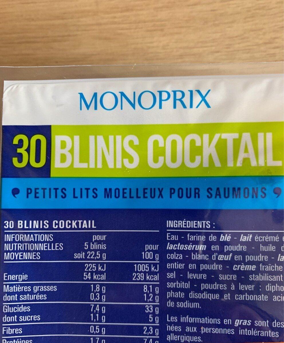 Blinis coktail - Produit - fr