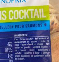 Blinis coktail - Ingrédients - fr