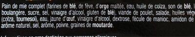 Sandwich poulet rôti - Ingrédients