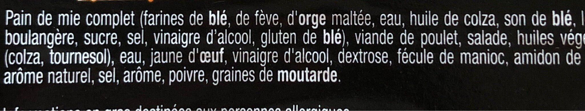 Sandwich poulet rôti - Ingrédients - fr