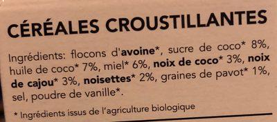 Granola Nutty by nature - Ingrediënten