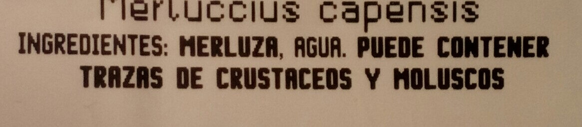 Merluza del cabo filletes - Ingredients