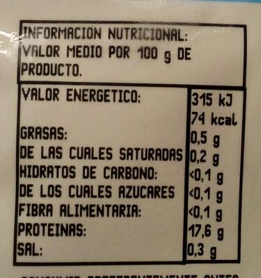 Merluza del cabo filletes - Nutrition facts