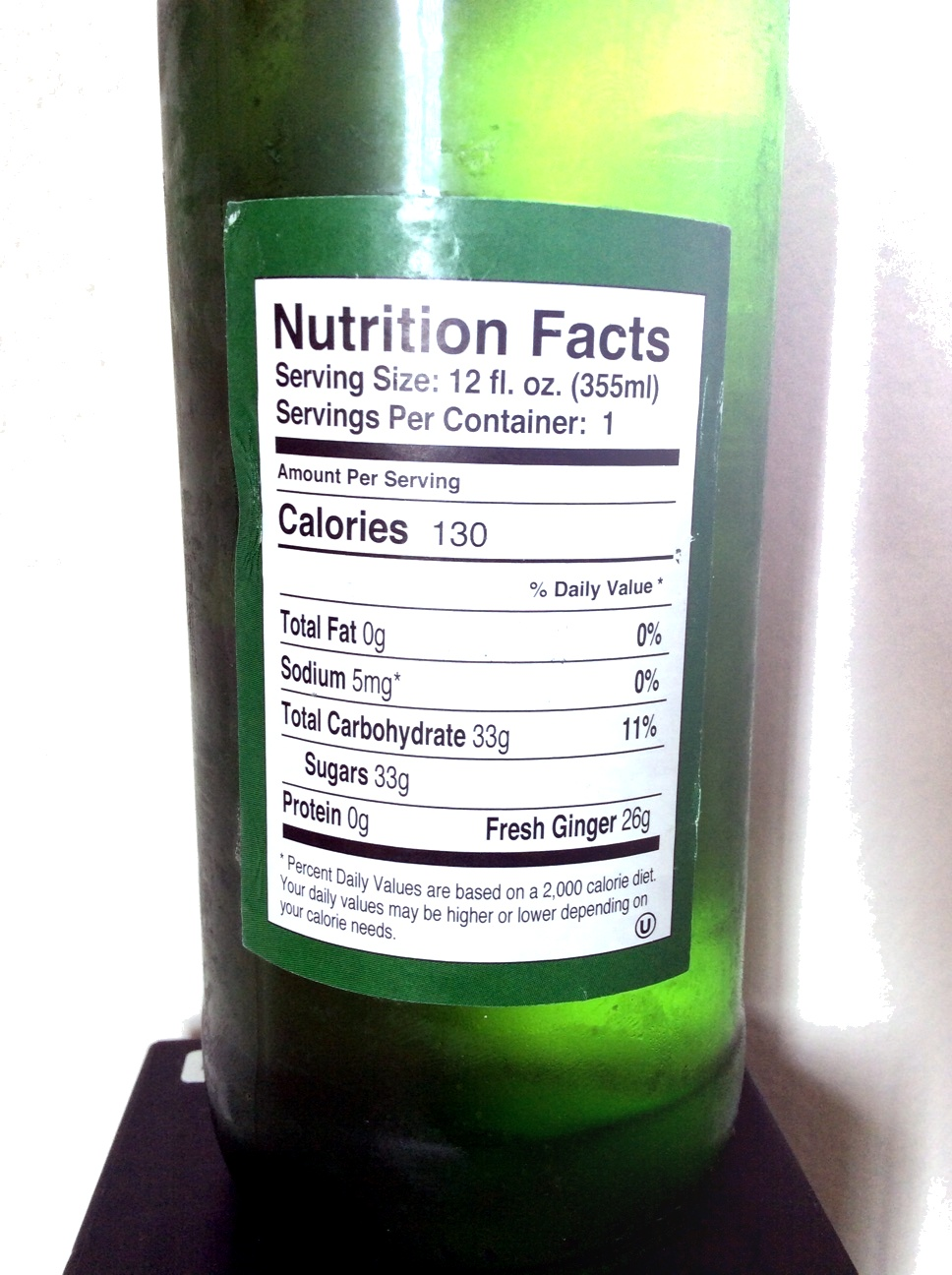 Ginger Beer - Nutrition facts