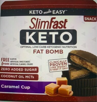 Slimfast keto caramel cup optimal low carb ketogenic - Product - en