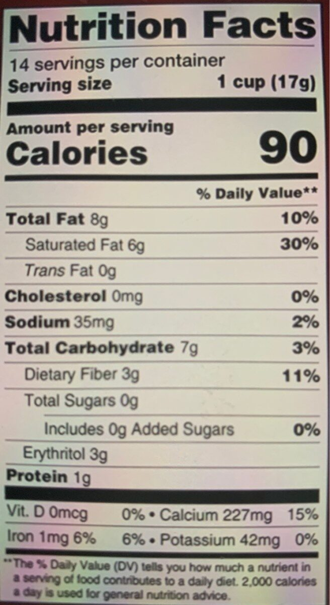 Slimfast keto caramel cup optimal low carb ketogenic - Nutrition facts - en