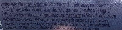 Malt Beverage Plus Acai And Guarana And Aloe Vera - Ingrediënten