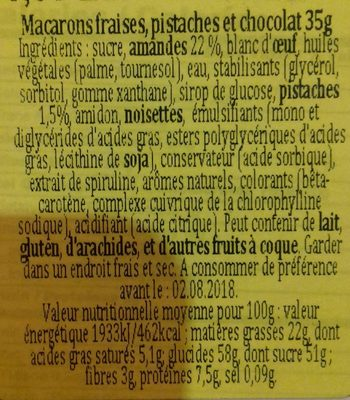 Macarons - Ingrédients - fr