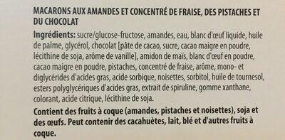 Macarons de Pauline - Ingrédients - fr