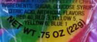 Rainbow Cherry - Ingredients