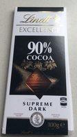 Supreme dark 90% cocoa - Product - en