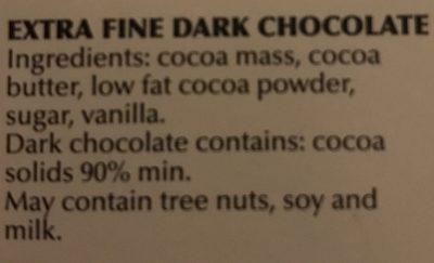 Supreme dark 90% cocoa - Ingredients