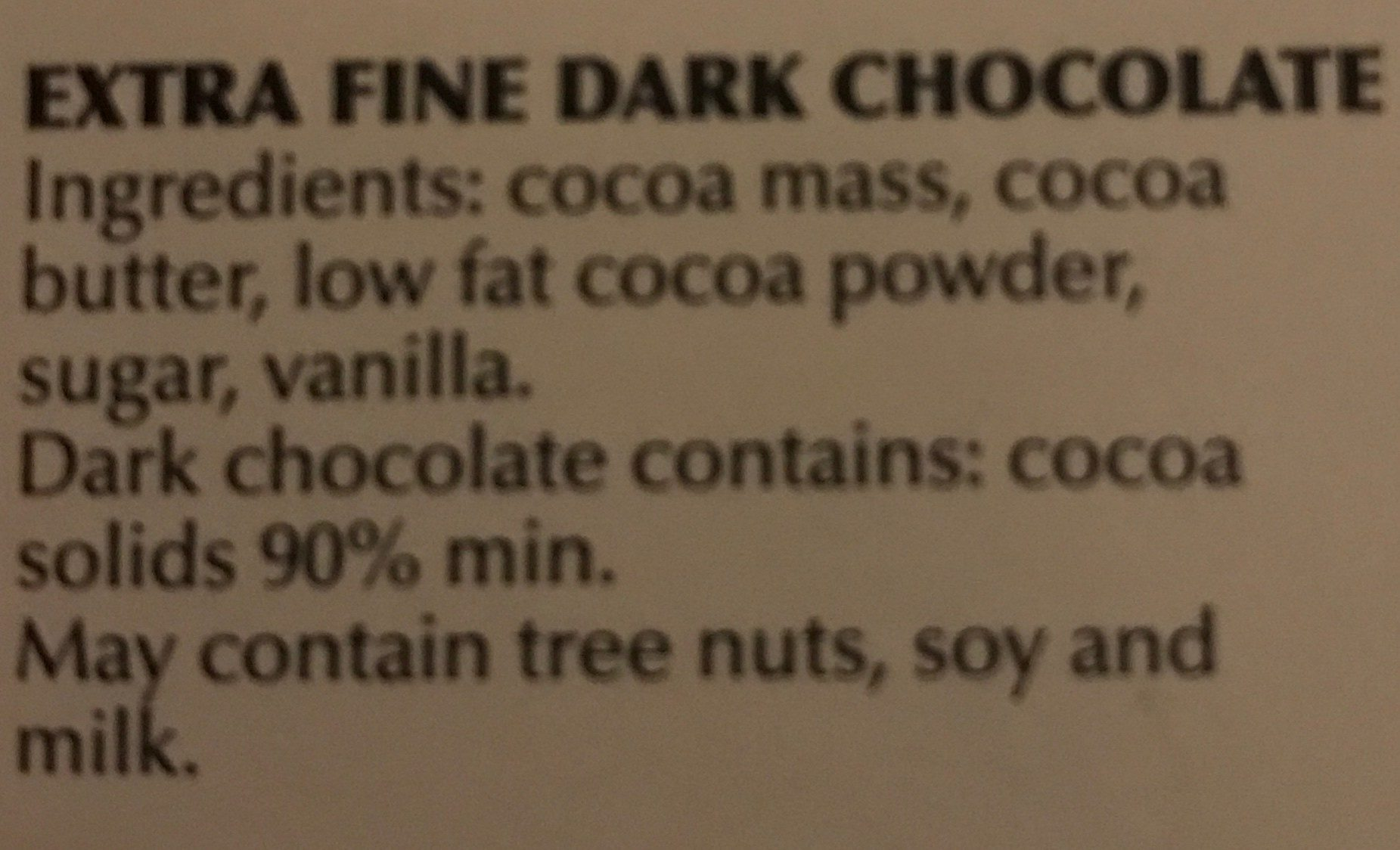Supreme dark 90% cocoa - Ingredients - en