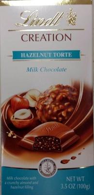 Lindt, milk chocolate, hazelnut torte - Product - en