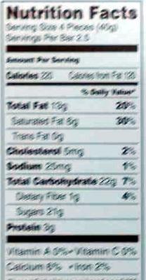 Lindt, milk chocolate, hazelnut torte - Nutrition facts