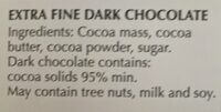 Ultimate dark 95% cocoa - Ingredients - en