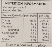 Lindt EXCELLENCE 95% cocoa - Nutrition facts - en