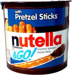 Go! hazelnut spread + pretzel sticks - Nutella
