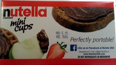 Ferrero, nutella, hazelnut spread with cocoa mini cups - Product - en