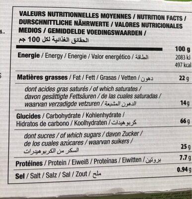 Pizza - Voedingswaarden - fr