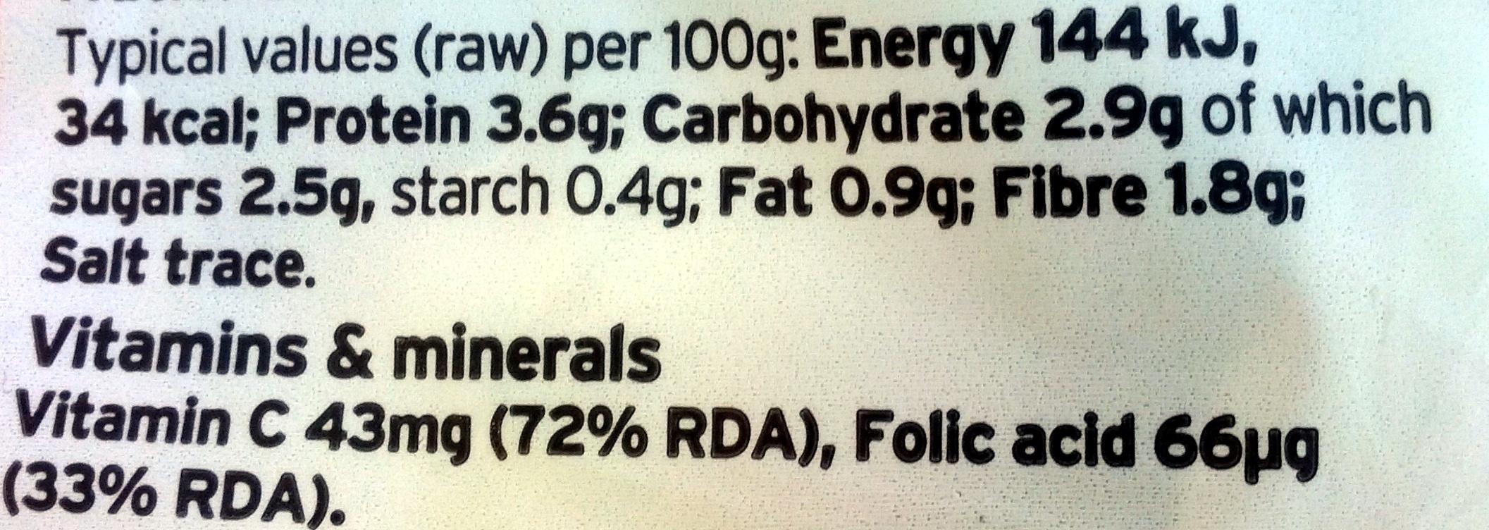 Cauliflower - Nutrition facts