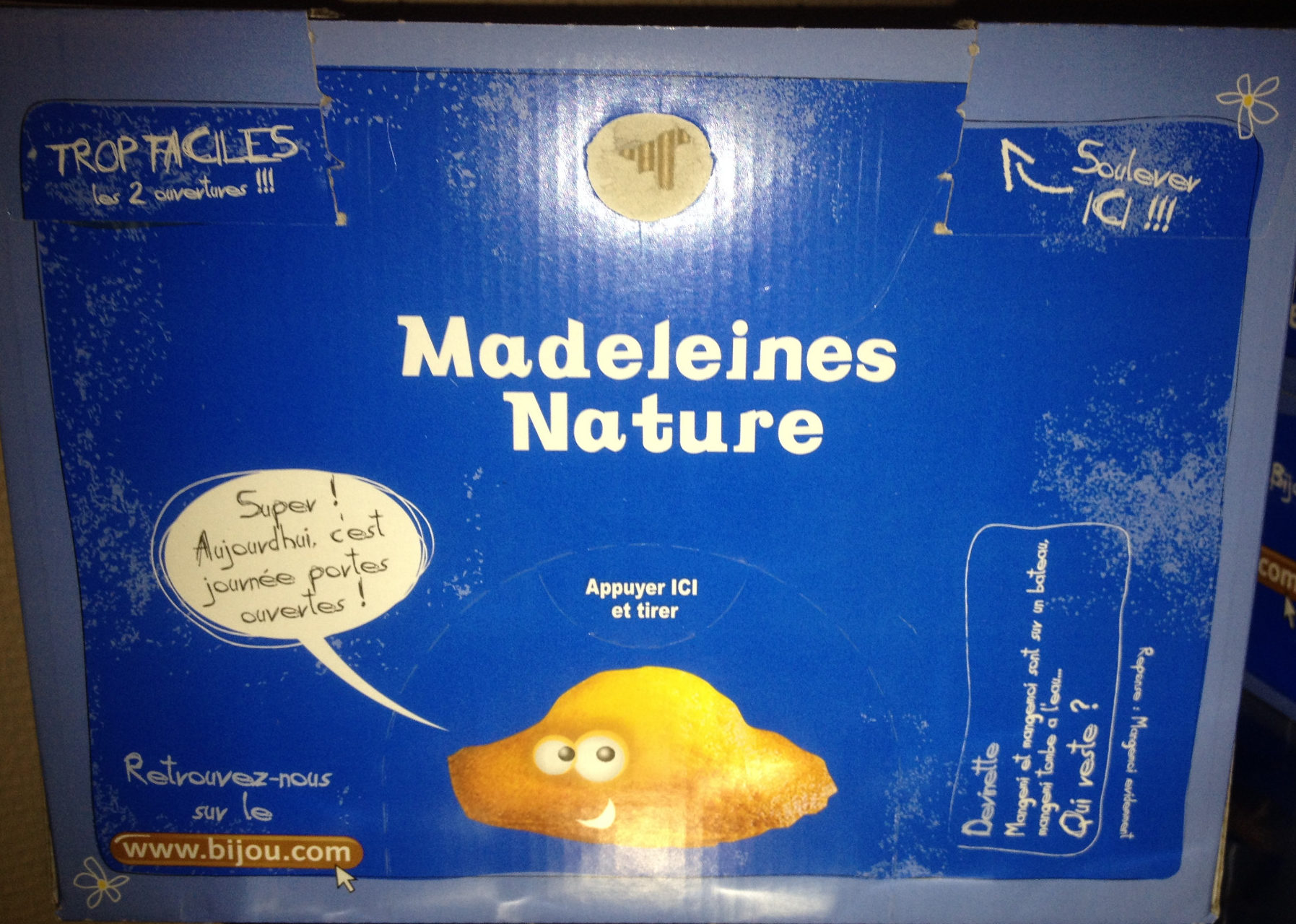 Madeleines nature - Product - fr
