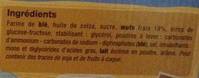 Madeleines nature - Ingredients - fr