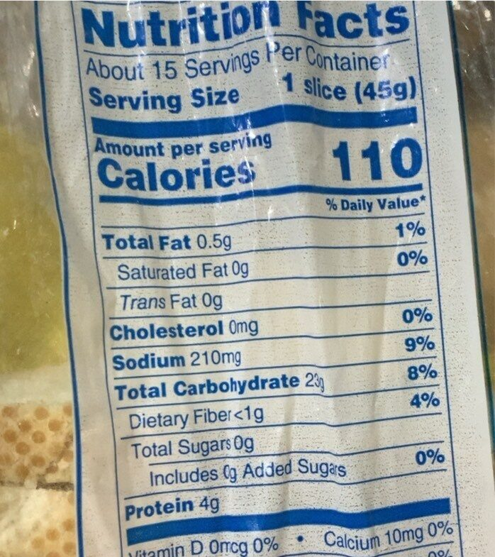 Cracked Wheat Sourdough Bread - Nutrition facts - en