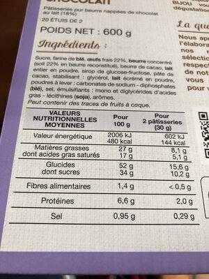 bijou - Informations nutritionnelles - fr