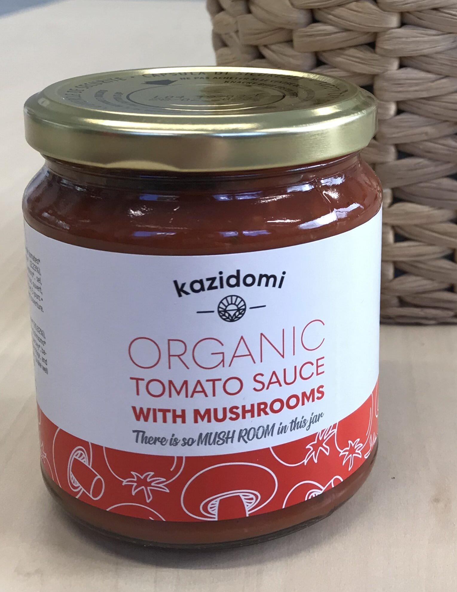 Sauce Tomate Aux Champignons Bio Kazidomi - Produit - fr