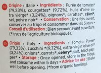Sauce Tomate Aux Courgettes Bio Kazidomi - Ingrediënten - fr