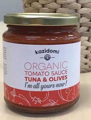 Sauce Tomate Au Thon & Olives Bio Kazidomi - Produit - fr