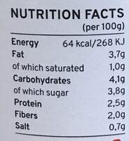 Sauce Tomate Au Thon & Olives Bio Kazidomi - Informations nutritionnelles - fr