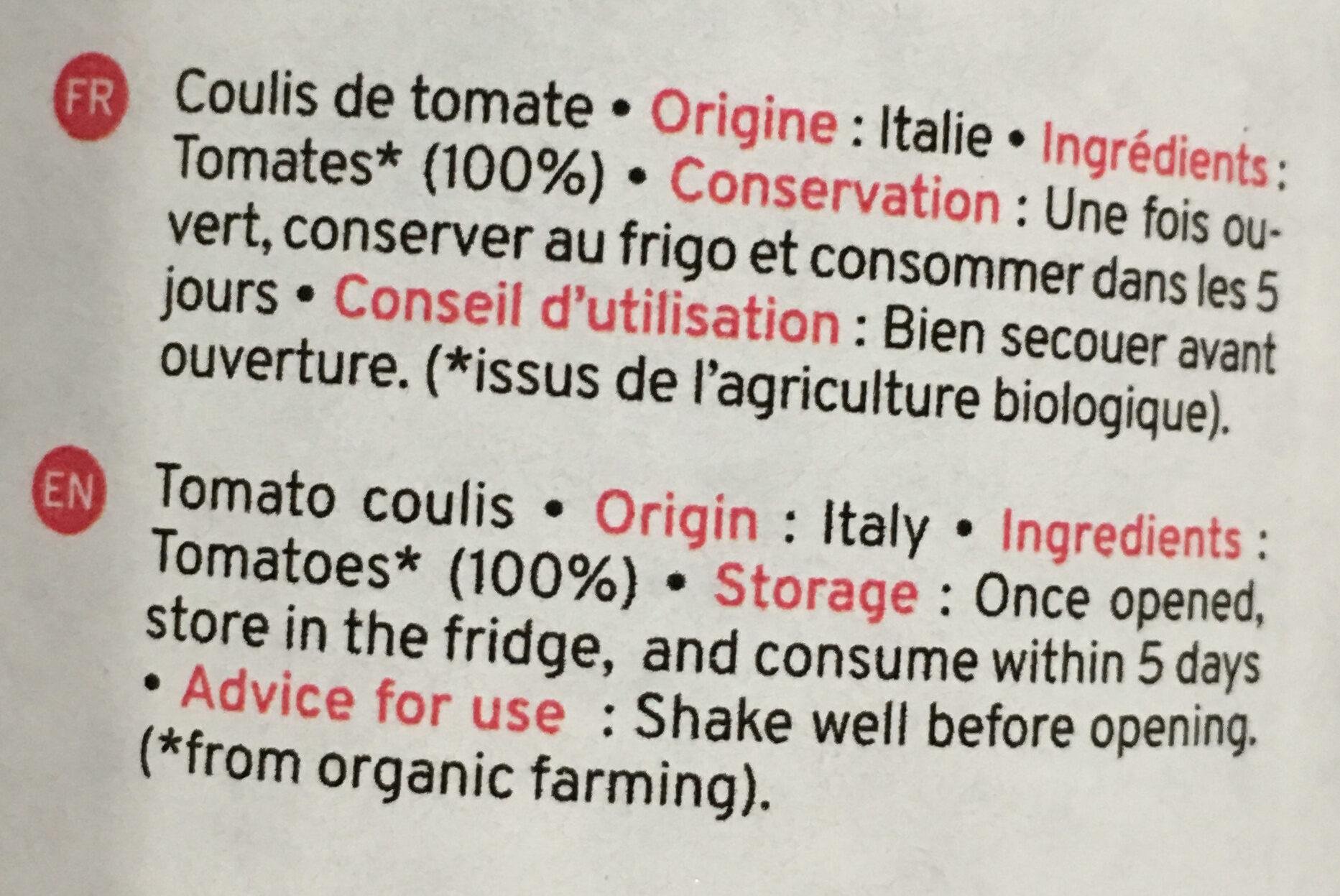 Tomato passata organic - Ingredients
