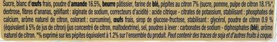 Fondants Citron - Ingrediënten - fr
