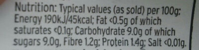 nectarines - Nutrition facts - en