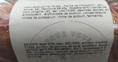 Baguette Lyonnais - Ingrédients