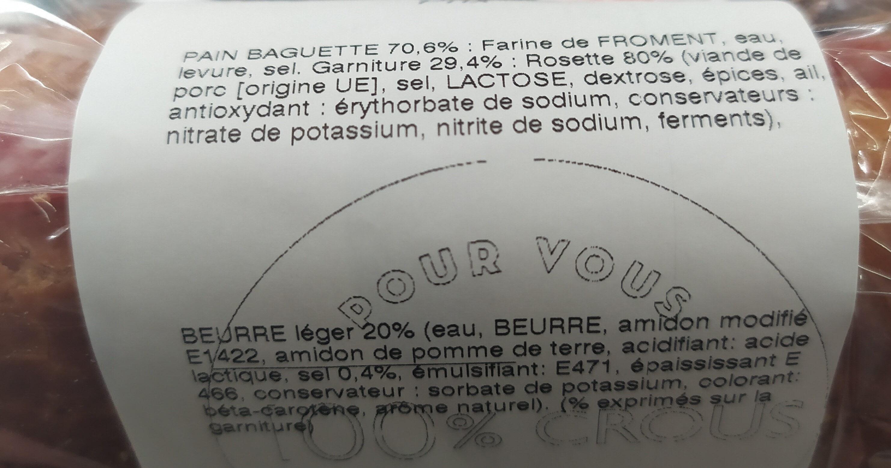 Baguette Lyonnais - Ingrédients - fr