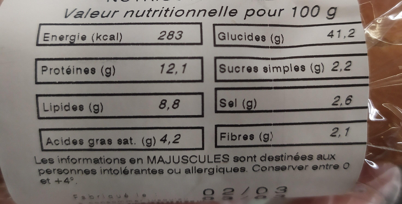 Baguette Lyonnais - Informations nutritionnelles - fr
