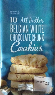 All Butter Belgian White Chocolate Chunk Cookies - Product