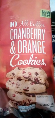 All butter Cranberry & Orange Cookies - Product