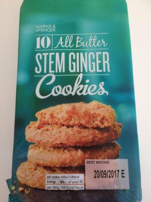 Cookies Stem Ginger - Product