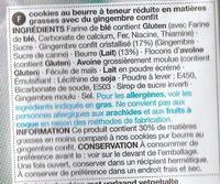 Stem Ginger Cookies - Ingredients - fr