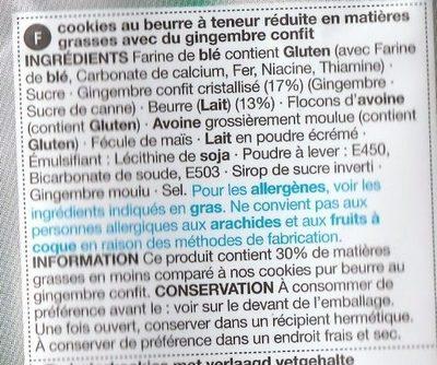 Stem Ginger Cookies - Ingrediënten - fr