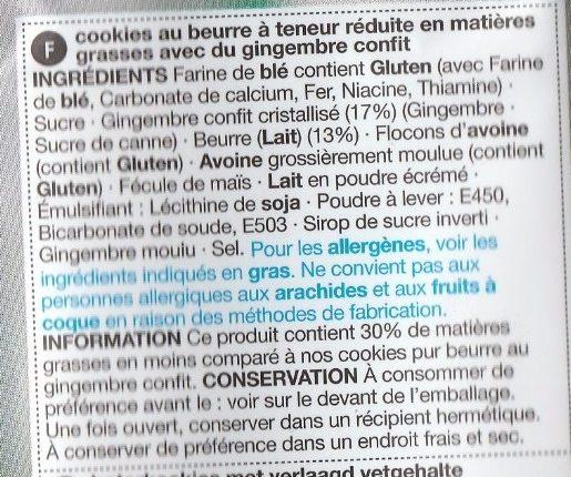 Stem Ginger Cookies - Ingrediënten