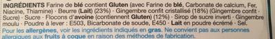 Stem Ginger Dunkers - Ingredients