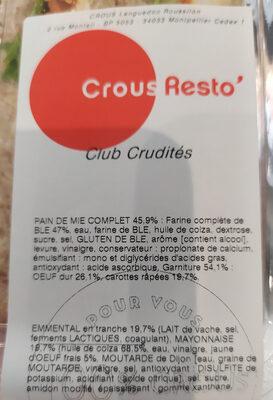 Club Crudités - Ingrédients - fr